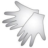 Перчатки виниловые неопудренные (разм. М), 1 пара